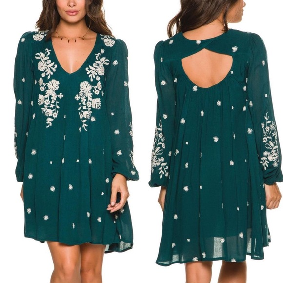 Free People Dresses & Skirts - FREE PEOPLE SWEET TENNESSEE EMBROIDERED DRESS